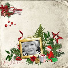 """A Christmas Scrap page.  Kit I used is  """"The magic of Christmas"""" by Thaliris designs."""