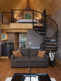 17 clever loft stair for tiny house ideas Loft Interior, Interior Styling, Interior Decorating, Interior Ideas, Decorating Ideas, Decorating Websites, Decor Ideas, Lofts Pequenos, Plywood Furniture