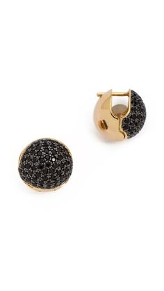 Noir Jewelry - Crystal Circle Cupped Earrings // $90.00