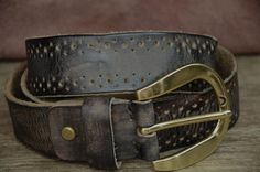Men's Belt Leather Belt Women's Belt Black Unique Distressed Belt Soft Cowhide Belt Dress Boho Belt Strap by SherryJewelry, $27.00