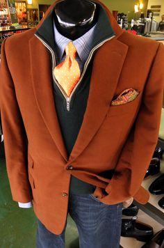 Zegna Sport Coat(46L)  Loro Piana Sweater(XL)  Burberry Shirt(XL)  Tom James Tie