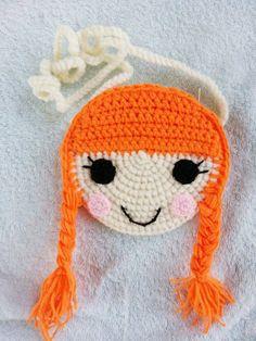 Pequeño monedero de crochet chico/chica
