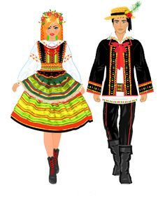 Stroje regionalne. Lubelski Folk Costume, Costumes, Polish Folk Art, Princess Zelda, Female, Embroidery, Dolls, History, Descendants