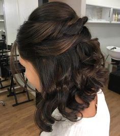 Curly Half Updo For Bob