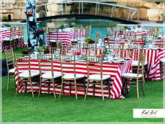 Red and White Stripe Red Color Schemes, Red And White Stripes, Table Decorations, Home Decor, Decoration Home, Room Decor, Dinner Table Decorations, Interior Decorating