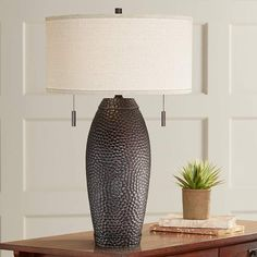 Gold ibis table lamp 37th st project pinterest designer table noah hammered bronze table lamp mozeypictures Image collections