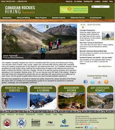 Canadian Rockies Hiking Website - our design and project management. http://canadianrockieshiking.com/