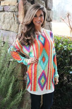 Colorful Diamond Tunic {Jane Deals}