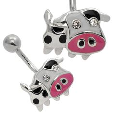 This is for you Jill. If u ever get your belly pierced you would PROABLY get the Cow piercing. Cute Piercings, Body Piercings, Piercing Tattoo, Tongue Piercings, Cartilage Piercings, Rook Piercing, Body Jewelry Shop, Body Jewellery, Belly Rings