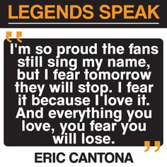 Eric Cantona #mufc Manchester United football quote