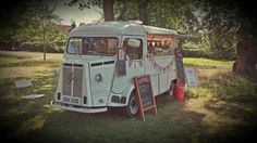 Bin the buffet at your wedding and delight guests with a crepe van serving sweet and savory creations.