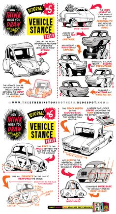 How to draw CARS VEHICLES TRUCKS CONCEPTS tutorial by STUDIOBLINKTWICE on DeviantArt