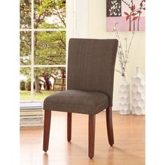 $63.99 Elegant Parson Dining Chair   Overstock.com Shopping - Great Deals on Dining Chairs