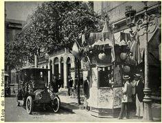 """R. 1° de Março, esquina da Ouvidor - """"O Malho"""" em 1952"""