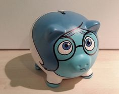 Ceramic piggy bank painted as Pearl from Team Rocket. All banks are 5 inches along and come with a rubber cork so they are reusable. Jessie Team Rocket, Pig Bank, Disney Pixar, Personalized Piggy Bank, Money Box, Hand Painted, Ceramics, Handmade, Diy