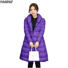 Winter Cotton-padded Jacket Women Clothing New Medium Long Parkas Outerwear Casual Large Size Warm Female Jacket YAGENZ K424 -- Detailed information can be found on www.aliexpress.com by clicking on the VISIT button