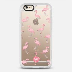 Pink Flamingos by Wonder Forest Clear Case -
