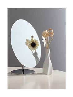 WJL Ultra-High Clear Tabletop Makeup Mirrors 180 Degree Swivel Movable Cosmetic Vanity Spot Mirror Bathroom Mirror,Oval *** Check this awesome product by going to the link at the image. (This is an affiliate link and I receive a commission for the sales)