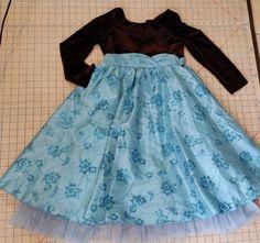Jona Michelle Formal Dress Easter Girls size 6X  Long Sleeve Black Velvet Blue #JonaMichelle #DressyHolidayWedding