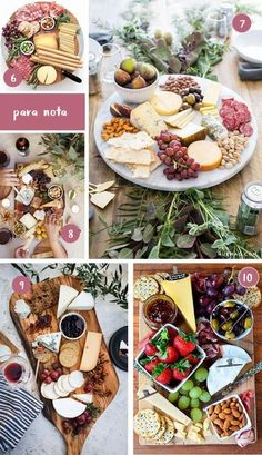 A cheese board is something so simple and colorful that with this post full of inspiration you will Healthy Diet Recipes, Raw Food Recipes, Snack Recipes, Cooking Recipes, Tapas, Comida Picnic, Cheese Table, Cheese Dishes, Charcuterie