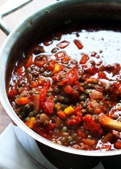 Spaghetti with Vegetarian Lentil Bolognese | Joanne Eats Well With Others