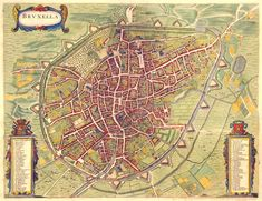 Ancient Map of Brussels (1657)