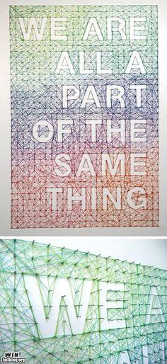 Epic string art.