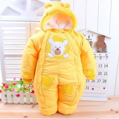 Nice Autumn & Winter Newborn Infant Baby Clothes Fleece Animal Style Clothing Romper Baby Clothes Cotton-padded Overalls CL0437 - $32.78 - Buy it Now!