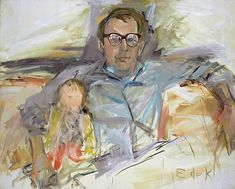 View Untitled Portrait of a man and child by Elaine de Kooning on artnet. Browse upcoming and past auction lots by Elaine de Kooning. Willem De Kooning, Best Artist, Artist Art, De Kooning Paintings, Oil Paintings, Abstract Paintings, Elaine De Kooning, Women Artist, Sports Painting