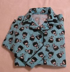 Womens Pajamas with black cats and turquoise background