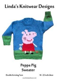Peppa Pig sweater knitting pattern for baby
