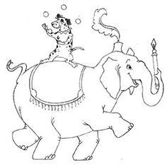 Elephant Rider Circus Dog Sketch