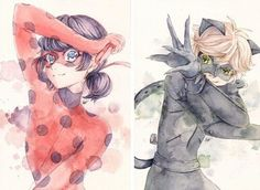 Chat Noir, ladybug, and paris