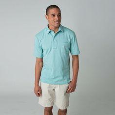 Men's Dual Stripe 4-Button Polo  100% Cotton, Prewashed, Preshrunk, Jersey Polo with Dual-Color Stripes