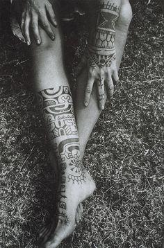 Mens Leg Tribal #Tattoo With Design On Hand