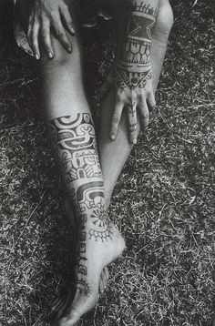 Mens Leg Tribal #Tattoo With Design On Hand