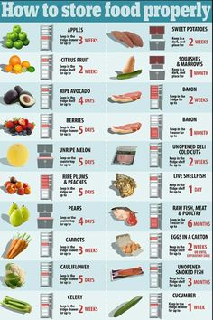 How to store food properly  sc 1 st  Pinterest & Restaurant Food Storage Chart | Atlantic Publishing Company Culinary ...
