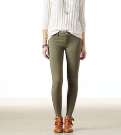 I could use olive, tan(or dark brown), mustard, dark gray, and/or beige jeans. Not necessarily from AE