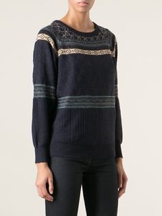 Sessun Embellished Jacquard Sweater - Spazio Pritelli
