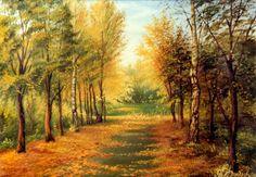 Осень в парке: холст, масло, 60x80, 1995