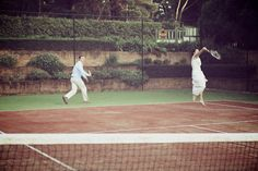 totally stealing this idea and playing tennis at my wedding