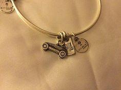 MIB Alex & Ani Silvertone Monopoly Car Charm Bracelet - http://designerjewelrygalleria.com/alex-ani/mib-alex-ani-silvertone-monopoly-car-charm-bracelet/