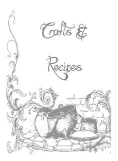 Crafts & Recipes title page