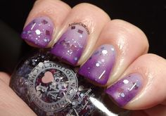 purple stuff | This is Purple Stuff over Wet n Wild Black Creme, Essie No Place Like ...