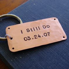 I Still Do Key Chain Personalized Anniversary Date by PearlieGirl, $27.00