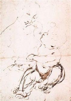 Study for the Madonna with the Fruit Bowl - Leonardo da Vinci