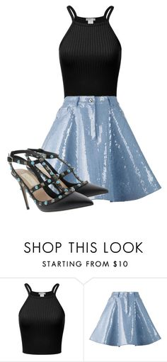 """Untitled #102"" by cristina-jbt on Polyvore featuring Moschino and Valentino"