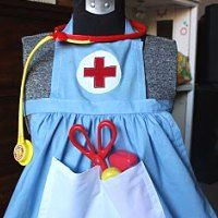I spent alot of time in my little nurses outfit:) Even back then I knew what I wanted to do:) Sewing Projects For Kids, Sewing For Kids, Kids Nurse Costume, Minis, Cute Costumes For Kids, Apron Tutorial, Autumn Rose, Dramatic Play Centers, Dress Up Outfits