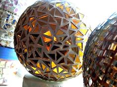 Mosaic Gazing Ball - 6 inches - Custom Made - Made To Order