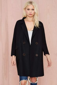 BLQ Basiq Tastemaker Wool Coat - Black | Shop What's New at Nasty Gal